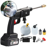 Portable Cordless Pressure Washer Power Cleaner W/ 24v Battery And Charger Us