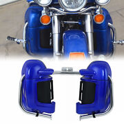 Lower Vented Leg Fairing Glove Box And Engine Guard Bar Fit For Harley Touring Fl
