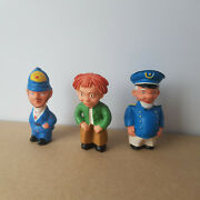 Vintage German Rubber Figurines Toys Dolls Max And Moritz