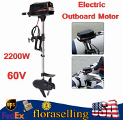 2200w 60v Electric Outboard Motor Brushless Boat Motor Engine Heavy Duty New Us