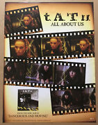 T.a.t.u. Tatu Rare 2005 Promo Poster For All About Cd 18x24 Usa Never Dispayed