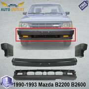 Front Bumper Primed W/o Molding Holes + Ends For 1990-1993 Mazda B2200 B2600 2wd