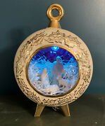 """Vintage Ornament Nativity Diorama Scene Light And Music Box """"away In A Manger"""""""