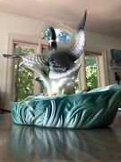 Vintage 50s Lane And And Co Company Tv Lamp Duck Planter Van Nuys Mcm Mallard 341