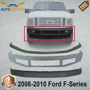 Front Primed Bumper + Lower Valance And Bumper Molding For 08-10 Ford F-series 4wd