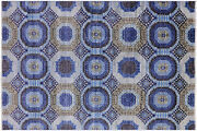 Geometric Mamluk Hand-knotted Wool Rug 5and039 7 X 8and039 2 - Q10371
