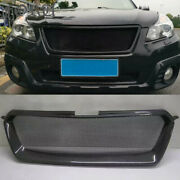 For Subaru Legacy Outback Grill Carbon Fiber Mesh Radiator Grille 2013 2014 2015