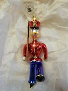 Kingand039s Guard/soldier Christopher Radco Blown Glass Ornament Made In Italy