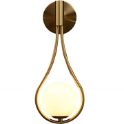 Bokt Modern Glass Wall Lamp Gold Wall Mounted Sconcesmid-century Bedroom Water