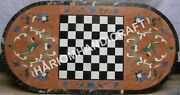 1.2mx2 And039marbre Unique Dandicircner Chess Table Haut Fin Incroyable Marqueterie Inlaid