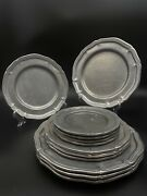 Vintage Wilton Columbia Pa Pewter Queen Ann Dinner Plates Bread Plates Set Of 12