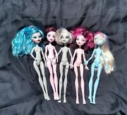 Monster High Doll Lot Used Nude Two Missing One Hand