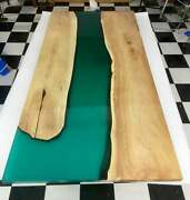 Green Resort Table Top Olive Conference Epoxy Dining Table Decors Made To Order