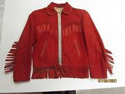 Genuine Vintage Roy Rogers Red Leather Jacket With A Resistol Felt Cowboy/cowgir
