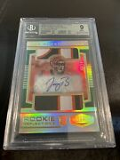 2020 Plates And Patches Rookie Joe Burrow Auto 6 Color Dual Patch Rpa 9/15 Jersey