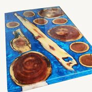 Epoxy Table Top Wooden Walnut Conference Epoxy Dining Table Decors Made To Order