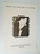 Could You Walk On The Waters Poster Vintage 1985 Nurse With Wound Konstuktivits