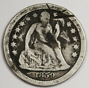 1859-s Liberty Seated Dime. Circulated. 161438