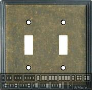 Art Deco Step Mottled Antique Brass Switch Plates Wall Plates And Outlet Covers