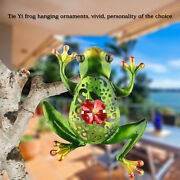 Stained Beautiful Cut-out Hollow Metal Frog Wall Decor Outdoor Indoor Sculpture