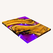 Wooden Acacia Epoxy White Resin River Dining And Bar Table Top Decor Made To Order