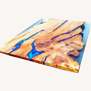 Wooden Walnut Epoxy Resin River Table Top Furniture Decorative Made To Order
