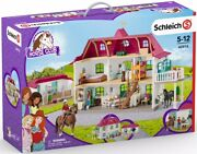 42416 Schleich Large Horse Stable With House And Stable Horse Club Plastic Set