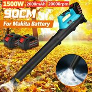 Cordless Air Blower Cleannig Dust Leaf Blowing 20000rpm For Makita Battery Eu/us