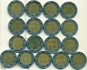 17 Different Bi-metal 2 Peso Coins..mexico..consecutive Dates Of 1997 To 2013