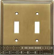 Art Deco Step Antique Brass Switch Plates Wall Plates And Outlet Covers