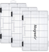 Magreel Fishing Tackle Boxes, Transparent Fish Tackle Storage With Adjustable Di