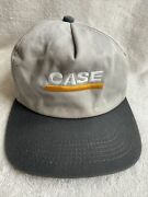 Vintage Case K Products Snapback Hat Cap Embroidered Usa Tractors Farm Used