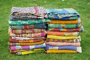 Vintage Kantha Couvre-lit Indien Handmade Couette Throw-cotton Couverture Ralli