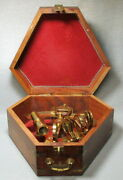 Antique Maritime Nautical Brass Sextant In A Wonderful Mahogany Naval Case