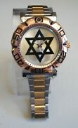 Men's Rose Gold/gold/silver Finish 6 Point Star Dressy/casual Fashion Watch