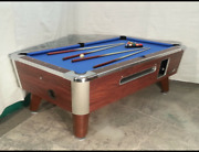 7and039 Valley Commercial Coin-op Pool Table Model Zd-4 New Blue Cloth