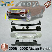 Front Bumper Chrome Steel + Filler And Valance For 2005 - 2008 Nissan Frontier