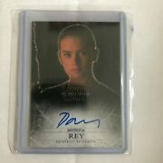 Topps Star Wars The Force Awakens Redemption Daisy Ridley First Card Autograph