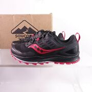 Saucony Women's Peregrine 10 Trail Running Shoes Wide S10557-20 Black/red