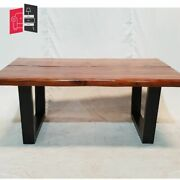 Industrial Live Edge Solid Wood Coffee Table 120x75x50 Made To Order