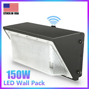 Usa Led Wall Pack Light Fixture Outdoor Dusk To Dawn Commercial Industrial 5500k