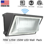 150|70|125w Outdoor Wall Pack Led Lighting Fixture Dusk To Dawn5 Years Warranty