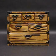 Japanese Vintage Wooden Sewing Box Used Beautiful Small Drawers Excellent