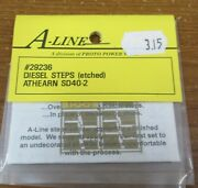 A-line 29236 Diesel Steps Etched Athearn Sd40-2 Nos Div Of Proto Power West