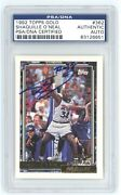 Shaquille Oand039neal Signed 1992 Topps Gold Rookie Card 807/992 - Psa Slabbed Auto