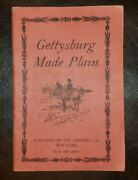 Gettysburg Made Plain Illustrated Book - By Abner Doubleday