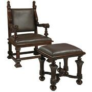 Design Toscano Lord Cumberlandand039s Throne Chair And Foot Stool