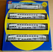 Ho Athearn Metrolink Commuter Train Set F59phi 802 And 3 Bombardier Coaches 25992