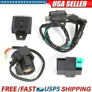 For 50-110cc Chinese Atv Quad Regulator Rectifier+relay+ignition Coil+cdi