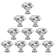 Crystal Diamond Cabinet Knobs Clear Glass Drawer Pull Handle Dresser Home Diy Us